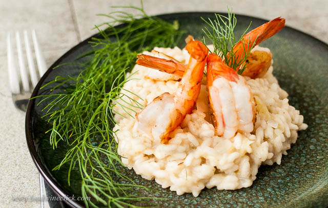 Shrimp simply wouldn't be on the menu in Piemonte, but fennel infused risotto definitely would.