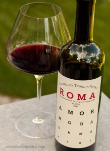 The Roma DOC wine is a blend of Montepulciano, Sangiovese, and Cesanese