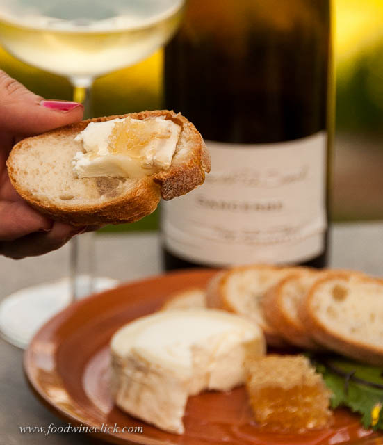 In France, cheese might be served after the meal. Whenever you have it, goat cheese and Sancerre is perfect.