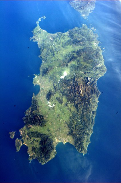 Sardinia from above, intriguing...