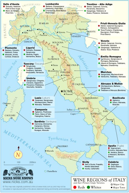 Chianti Region Italy Map.Italian Wine 101 Italian Wine Intro And Chianti Foodwineclick