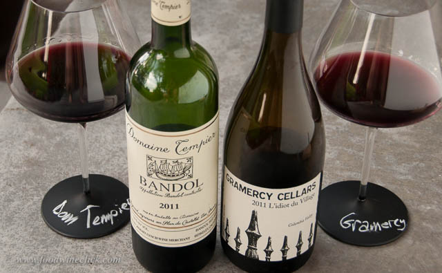 Domaine Tempier from Bandol and Gramercy Cellars from Walla Walla, WA