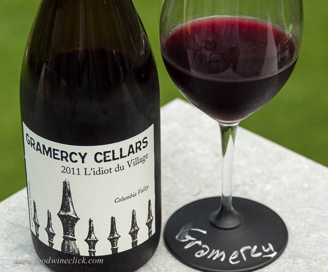 Gramercy Cellars L'Idiot du Village 2012 is 90% Mourvedre