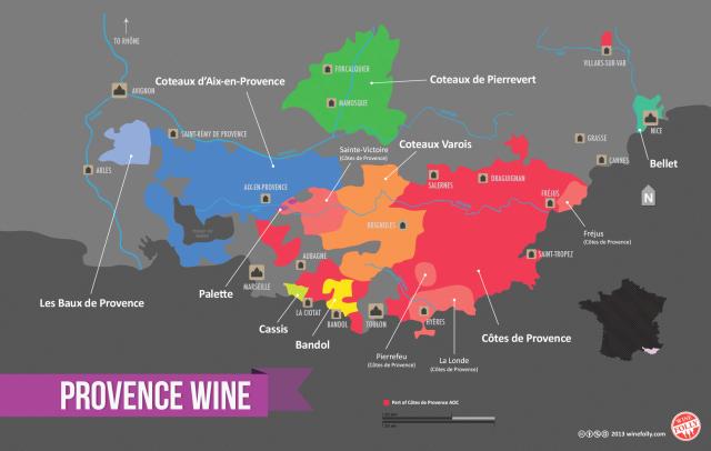 Provence wine map courtesy of www.winefolly.com