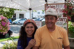 We buy lots of produce from Peter & Carmen. Peter is passionate about sweet corn, which endears him greatly to Julie.