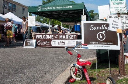 We're fortunate to have lots of small local farmers markets all around Minneapolis. This is our Sunday morning haunt, Kingfield Market.