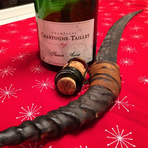 Chartogne-Taillet Champagne and saber