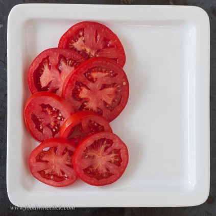 Start with vine ripened tomatoes, from your garden or the farmers market.