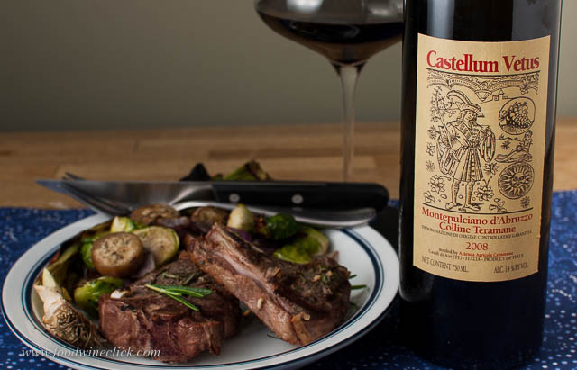 A rich red wine to go with grilled lamb chops.