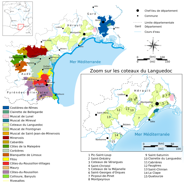 The Languedoc-Roussillon (image courtesy of