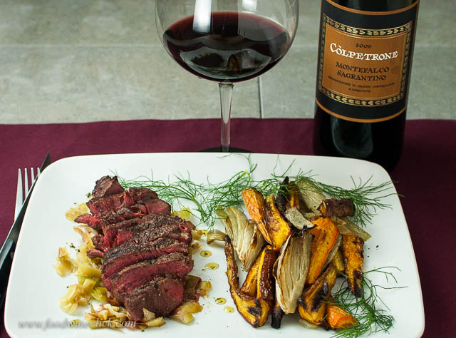A very respectable 2nd place finish. Sagrantino is an excellent red wine for steak.