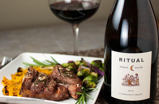 Ritual Pinot Noir and Lamb Chops