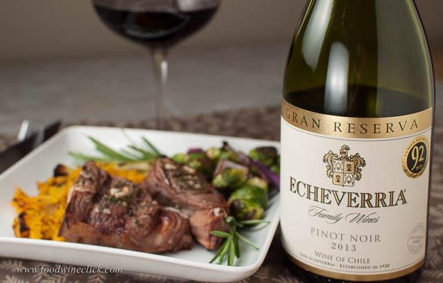 Echeverria Pinot Noir and Lamb Chops