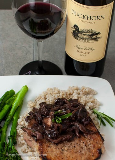 Duckhorn Merlot with grilled pork
