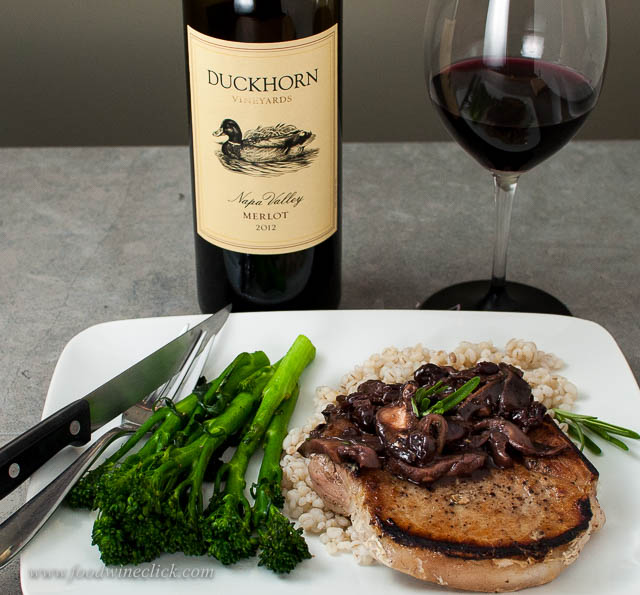 duckhorn merlot paired with pork