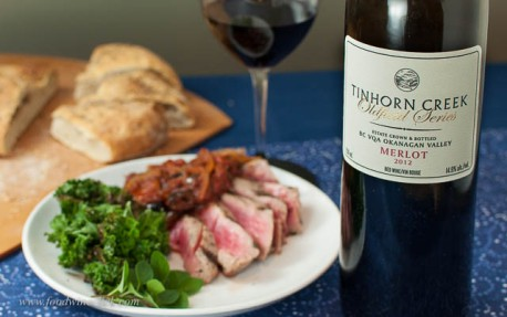 Tinhorn Creek Merlot with rare tuna for #MerlotMe