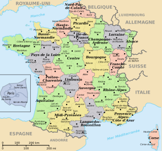 The regions of France. Image courtesy of wikipedia.org