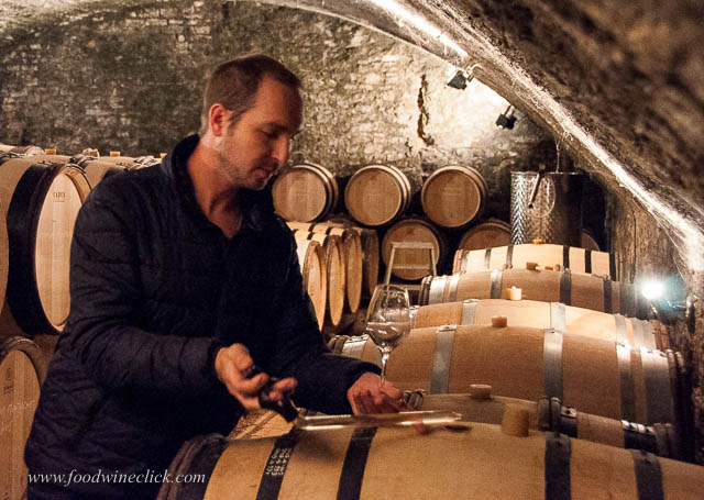 We tasted the 2015's (white and red) from the barrel