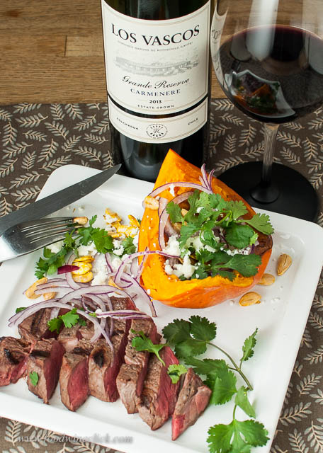 Carménère is a natural choice with grilled red meat and earthy squash.