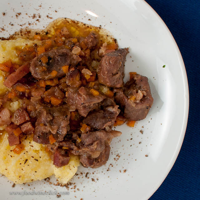 Nutmeg braised goat on a bed of polenta