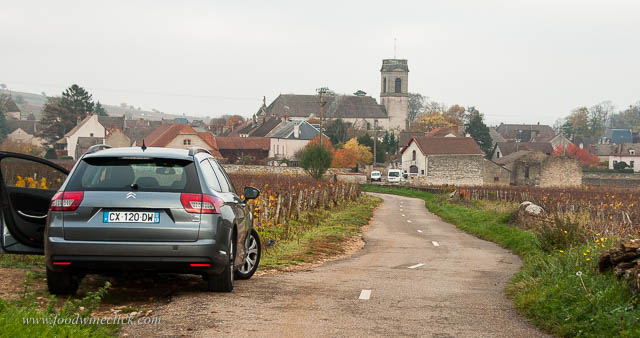 You can walk, bicycle, or drive right through the vineyards in Bourgogne!