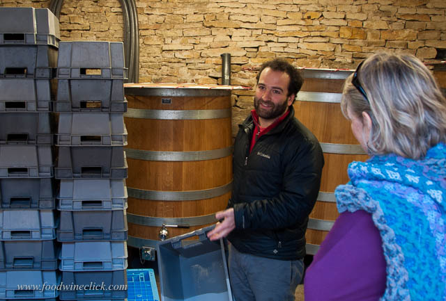 Our first stop was the winery. Nicholas told us their story and about their first vintage, in 2013.