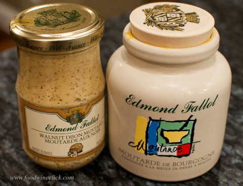 Edmond Fallot Mustard brought home from Beaune, luckily we can buy more in Minnesota.