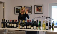 Mary Anne with a fraction of the wines we'll evaluate in 4 days. All that wine will be seen, smelled, tasted, and sadly, spit!