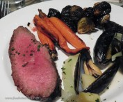 Roasted sirloin for the main course. Napa Cab pairing.