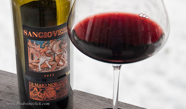 This Sangiovese had a bit of iron in the flavor