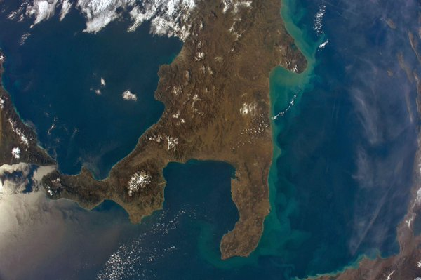 ISS photo of Puglia
