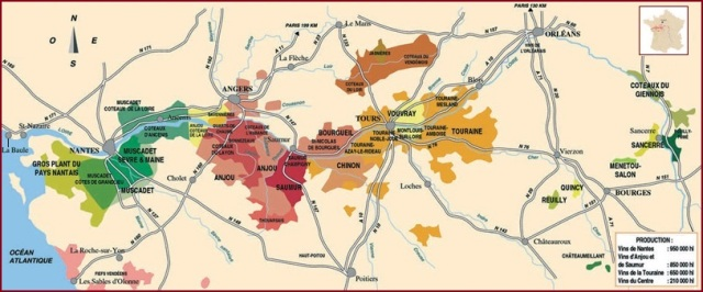 Loire River Valley wine regions courtesy of wikipedia.org