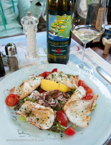 Squid with our favorite Ligurian white wine