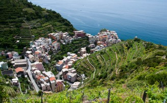 The hikes offer dizzying views down into vineyards and towns