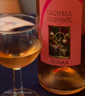 This is a rosato of Sangiovese, one of the red wine grapes in the area.