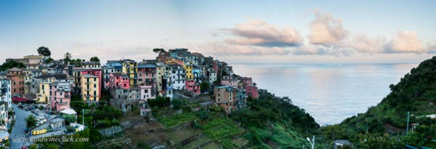 The Cinque Terre combines stunning scenery with terraces covered with grapes
