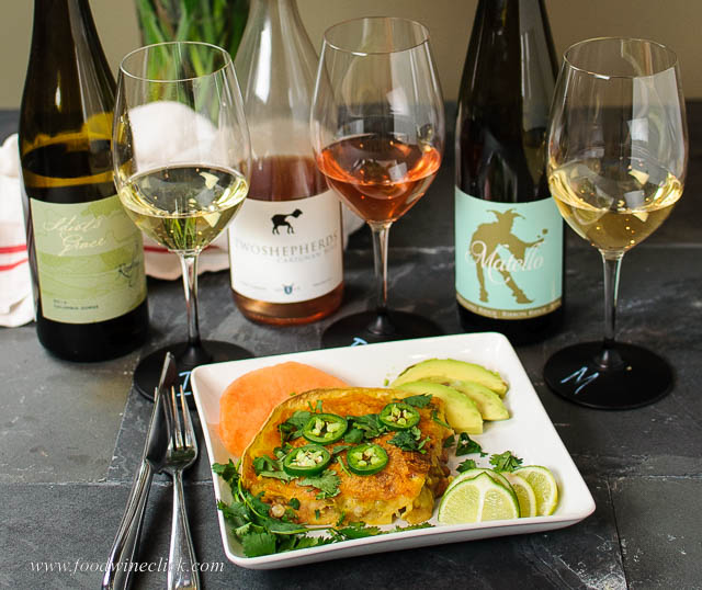 wine pairing with spicy shrimp enchiladas