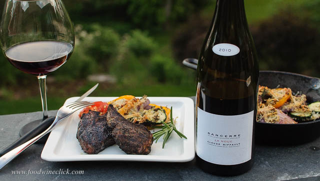 Sancerre rouge with lamb chops and vegetable tian