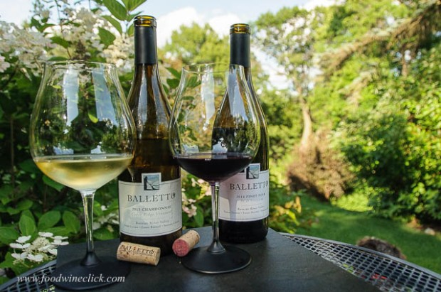 Balletto Russian River Pinot Noir and Balletto Russian River Chardonnay
