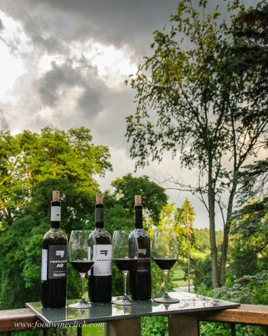 Wine tasting on a stormy summer evening