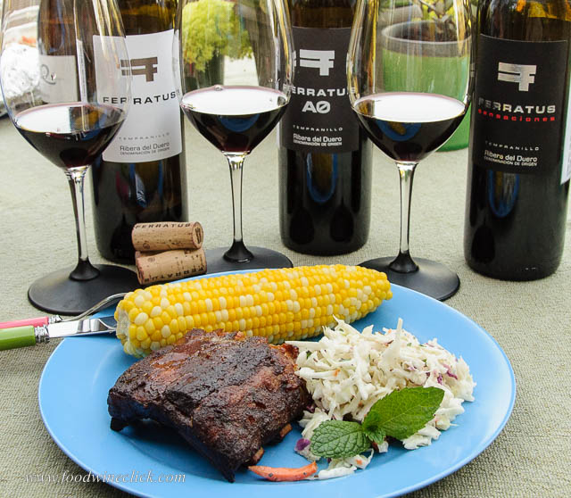 Different foods match with different wines