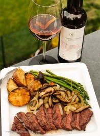 Oloroso sherry paired with steak & sherry sauteed mushrooms