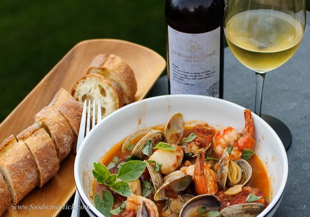 Cioppino was an excellent pairing with Fino.