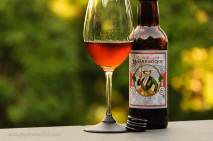 What a beautiful color! Amontillado Sherry