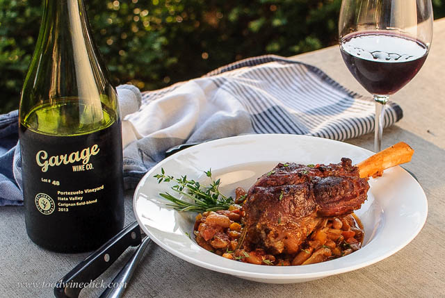 Garage Wine Company Carignan with braised lamb shanks