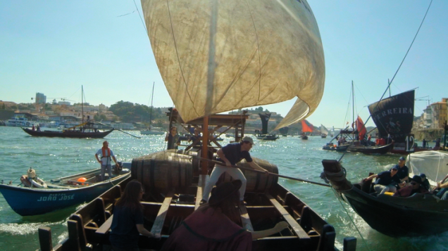 They do know how to have fun. Even the suits get out for a crazy annual race on the Douro.