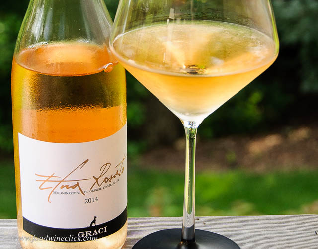 The Graci Etna Bianco was brightly acidic and refreshing with a savory character