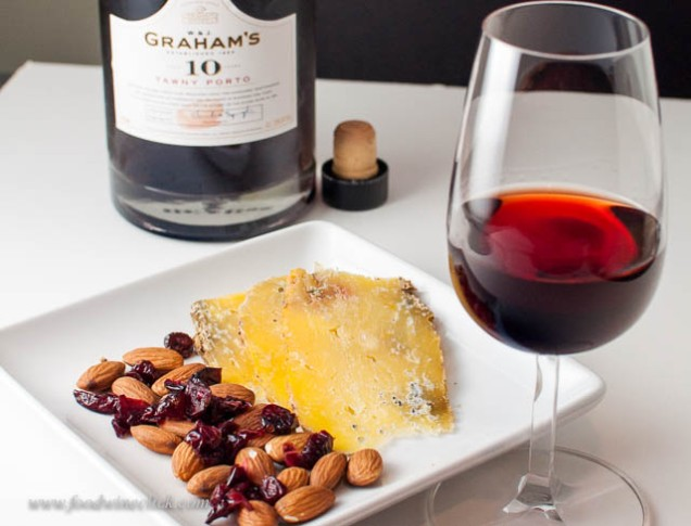 Blue cheese, dried fruit and nuts are a perfect after dinner accompaniment.