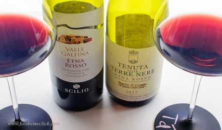 The grapes for Etna Rosso wines are grown on the northern slopes of active volcano, Mt. Etna.