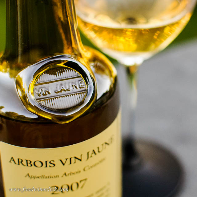 embossed vin jaune bottle